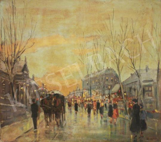 Eladó  Berkes Antal - Párizsi Grand Boulvard festménye