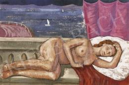 Czene, Béla jr. - Nude in Mediterranean Landscape