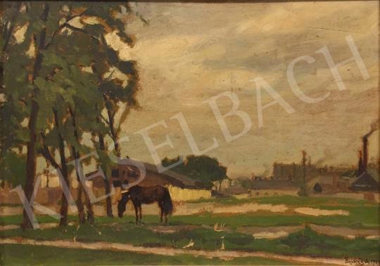 Berkes Antal - Legelésző ló festménye
