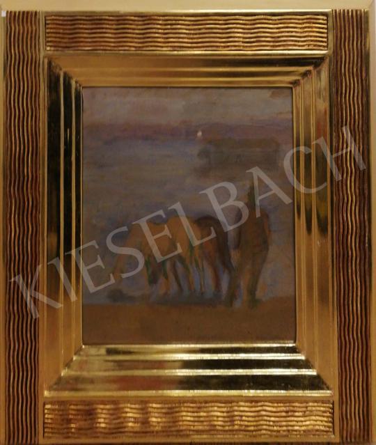 Eladó Kernstok Károly - Reggeli hangulat a Dunán (Nyergesújfalu) festménye