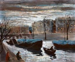 Corini, Margit - The Seine Bank in the Moonlight
