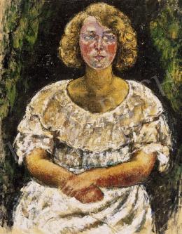 Járitz, Józsa - Girl in Frilly Dress