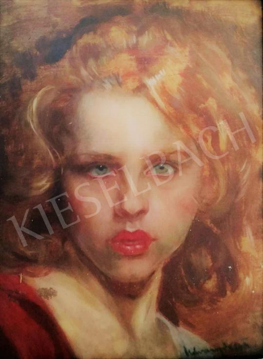 Eladó Udvary Dezső - Szőke hajú fiatal nő festménye
