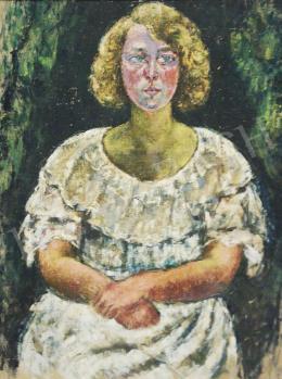 Járitz Józsa - Lány fodros ruhában