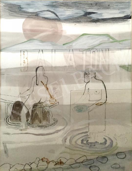 Bukta, Imre - Lake Balaton painting