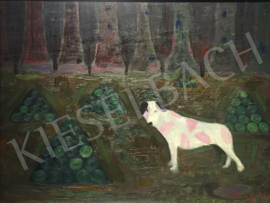 Bukta Imre - Dinnyeőrző kutya festménye