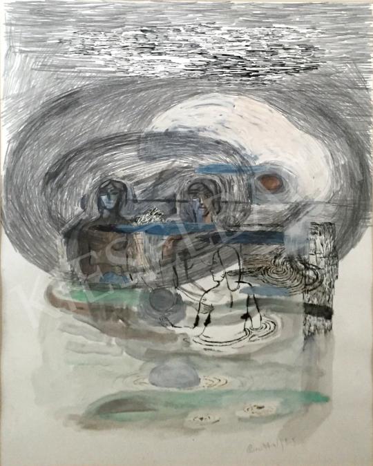 Bukta Imre - Egerszalóki fürdő festménye