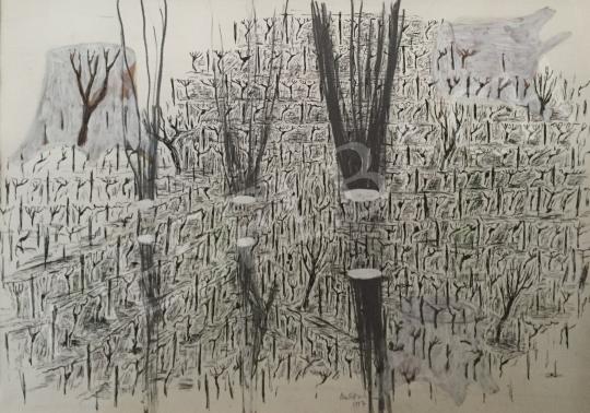Bukta Imre - Farönkök a szőlőben festménye