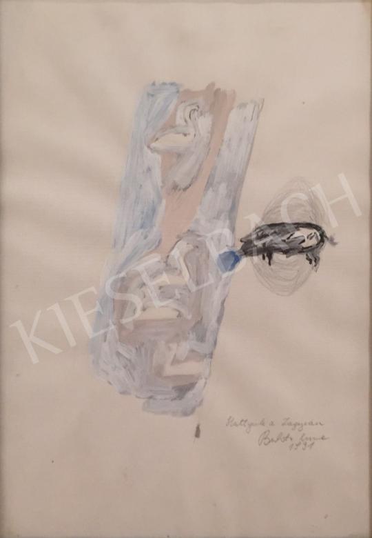 Bukta Imre - Hattyúk a Zagyván festménye