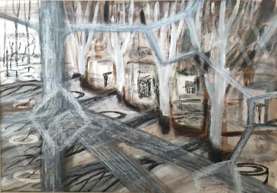 Bukta Imre - Kerítésen át festménye