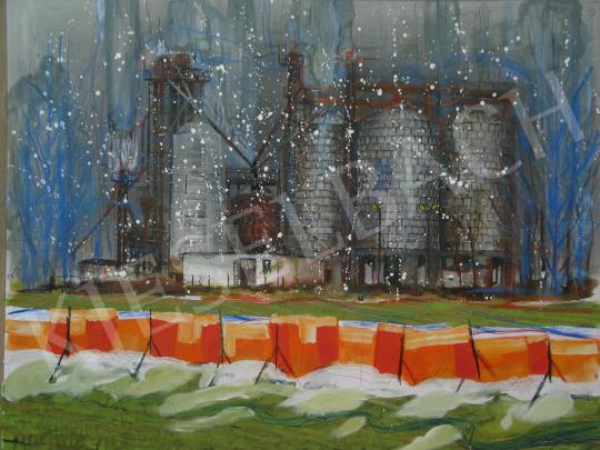 Bukta Imre - Kora tavaszi hófúvás festménye