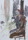 Bukta, Imre - Self-Portrait Leaning on Elbows