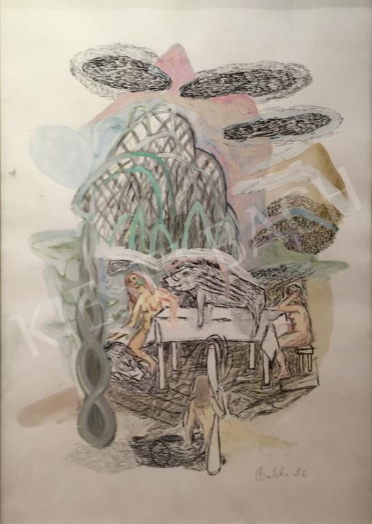 Bukta Imre - Lányok disznóval festménye