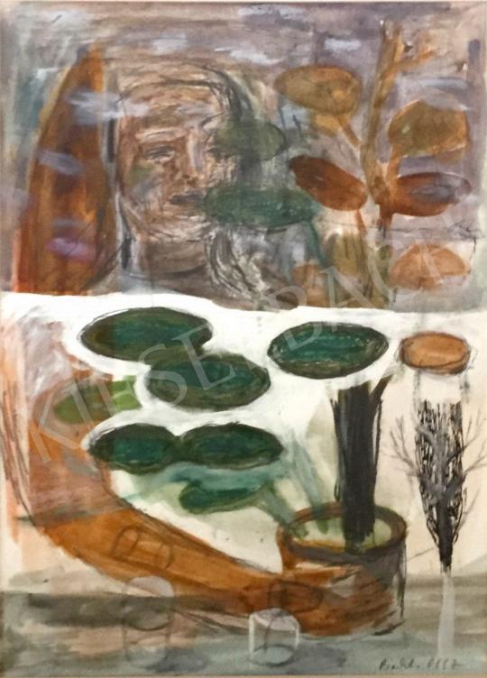 Bukta Imre - Muskátlis lány festménye
