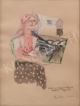 Bukta Imre - Orosz nő Bajkál tavat ábrázoló képpel (1992)