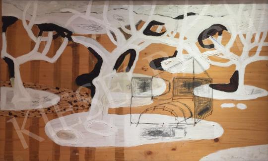 Bukta Imre - Öreg gyümölcsös festménye