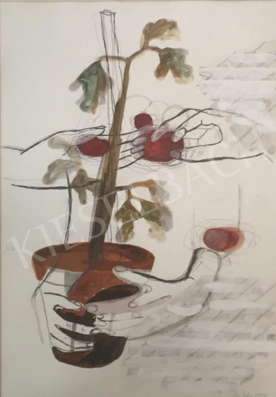Bukta Imre - Paradicsomszüret festménye