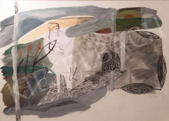 Bukta Imre - Reggeli a szabadban festménye
