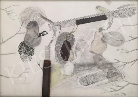 Bukta Imre - Szőrös körték világos alapon festménye