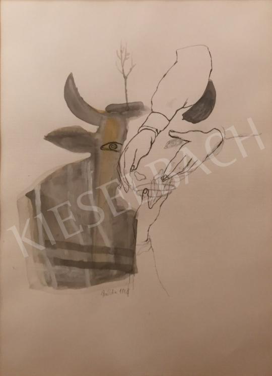 Bukta Imre - Tehénsimogatók festménye