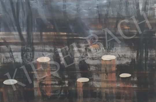 Bukta, Imre - Fires at the border painting