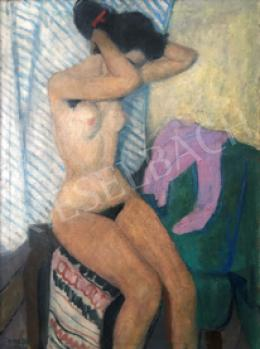 Czene, Béla jr. - Female Nude in the Interior, 1959
