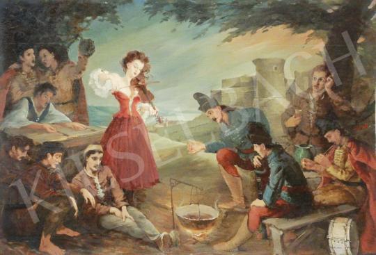 Eladó  Szánthó Mária - Hegdűszó (Cinka Panna) festménye