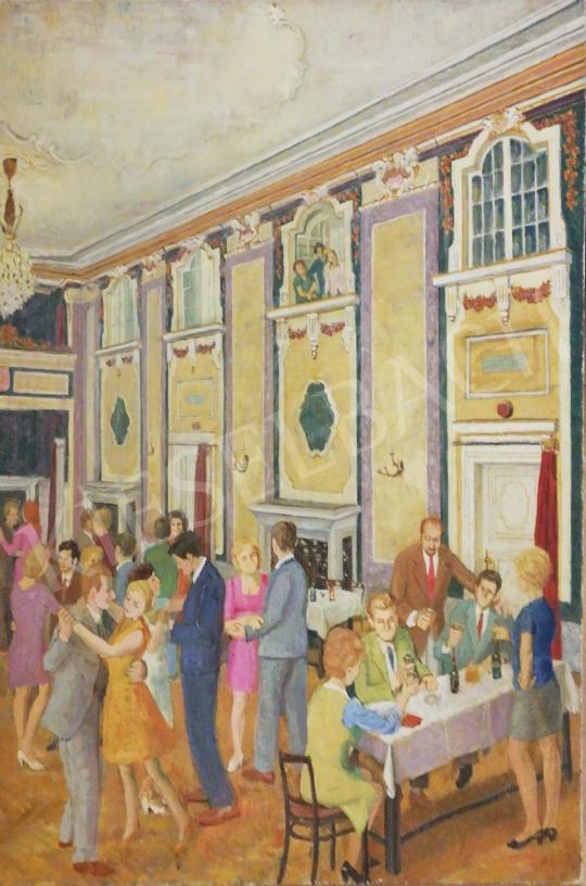 Eladó  Tiszavölgyi János - Táncmulatság festménye