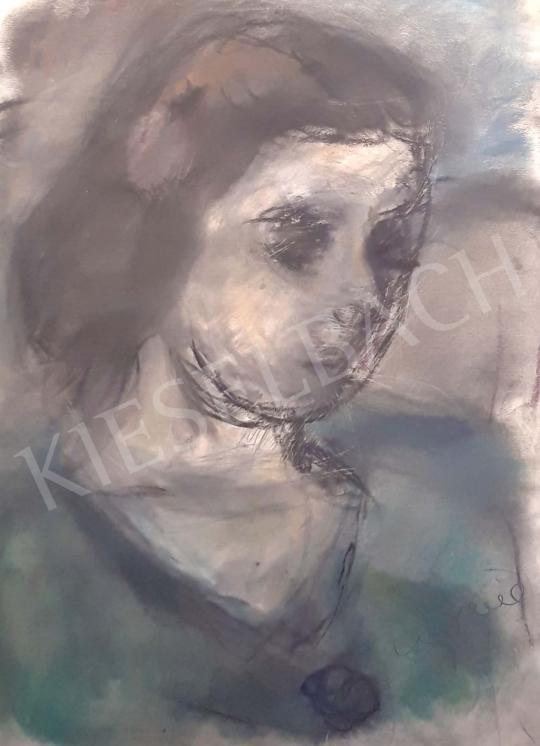 Czóbel Béla - Női portré festménye