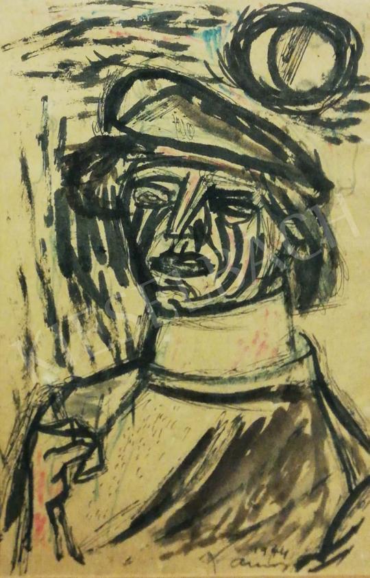 Ámos Imre - Nehéz idők (Önarckép), 1944 festménye