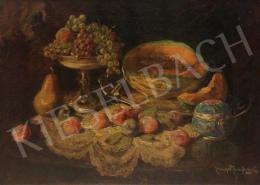 Lengyel-Reinfuss Ede - Asztali csendélet gyümölcsökkel