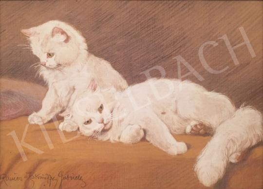 For sale Rainerné-Istvánffy, Gabriella - White Little Kitten 's painting