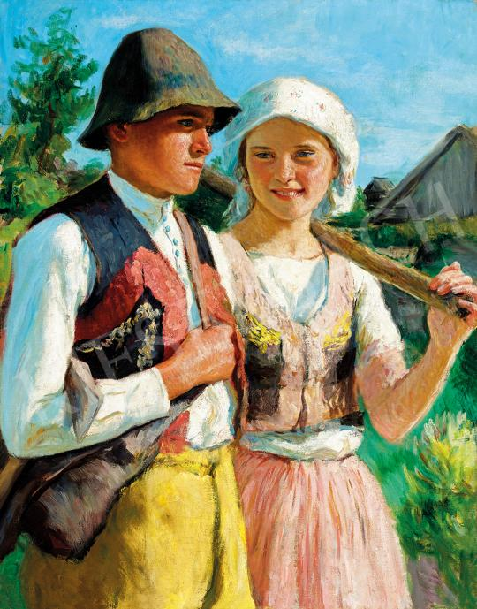 For sale Glatz, Oszkár - Young Couple, 1935 's painting