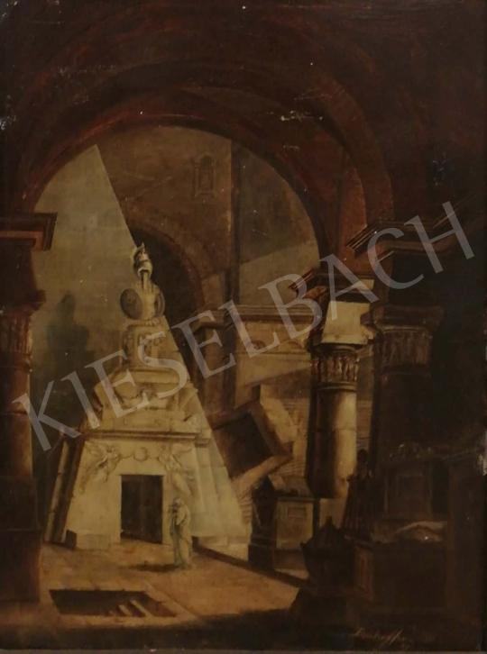 For sale signed as Donhoffer - Capriccio (Canova's Tomb), 1809 's painting