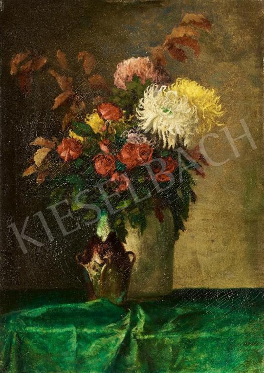 Eladó Kallósné H. Adrienne - Csendélet szecessziós vázával festménye