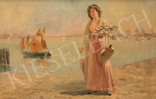 Eladó Hátszegi jelzéssel - Velencei részlet (Nászúton) festménye