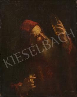 Ismeretlen művész, 1800-as évek - Szakállas férfi fehérborral