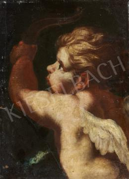 Ismeretlen közép-európai festő, 17. század - Crouching Cupid