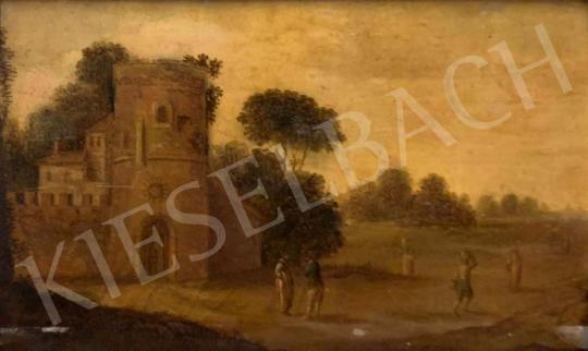 For sale Unknown dutch painter, 18th century - Landscape with City Gate 's painting