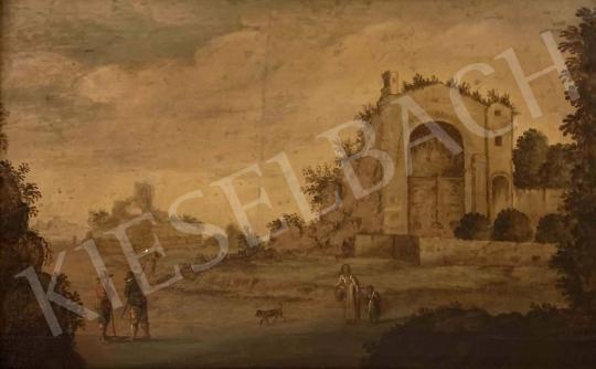 Eladó Ismeretlen németalföldi festő, 18. század - Capriccio festménye