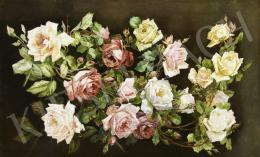 Ismeretlen festő - Rózsakompozíció (Feuerbach után)