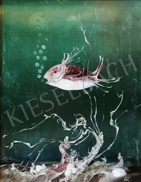 Szász Endre - Víz alatti világ festménye