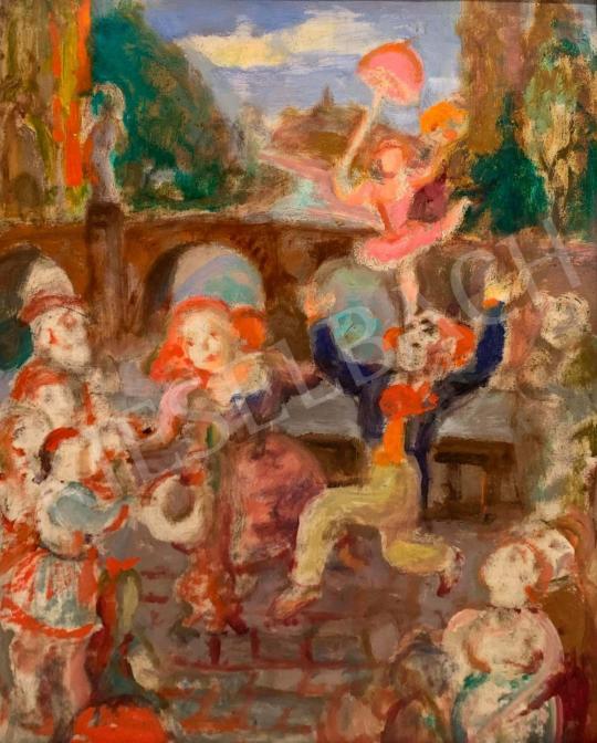 Eladó  Szabó Vladimir - Vándorcirkusz festménye