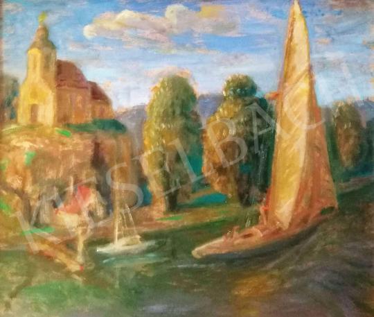 Eladó  Szabó Vladimir - Vitorlás a vízen festménye