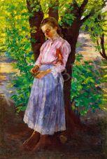 Eladó Bihari Sándor - Kislány fa alatt festménye