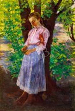 Bihari Sándor - Kislány fa alatt, 1907