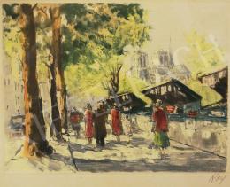 Ismeretlen művész Roy jelzéssel - Nyári séta a bazárban