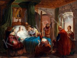 Hayez, Francesco - Szerelemtől epekedve (Bice Del Bazo találkozása Ottorinóval), 1838-40