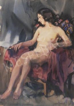 Baranszky Emil László - Női akt fotelben