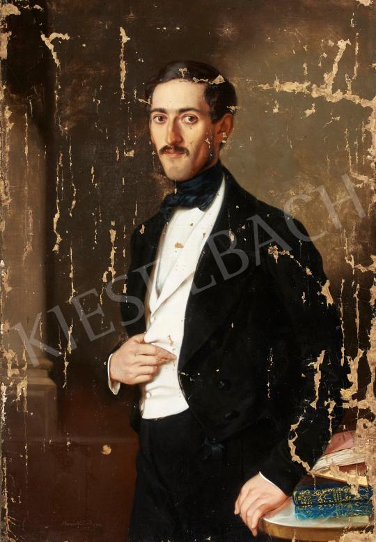 Eladó  Ruprecht Etelka Adél - Fehér zekés férfi portré festménye